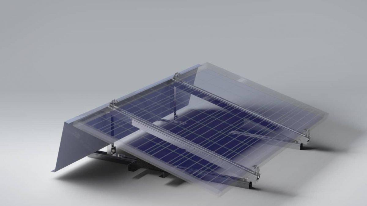 Tek Yönlü Düz Çatı Montaj Sistemi 1