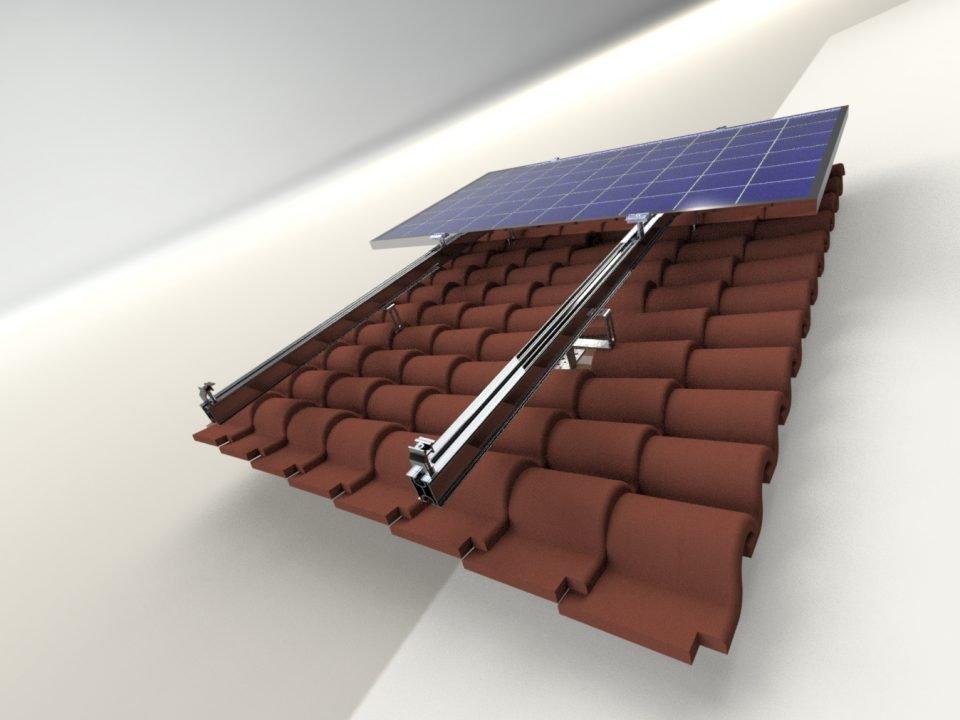 Kiremit Çatı Solar Montaj Sistemi 4