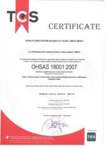 Güneşfix - OHSAS 18001-2007