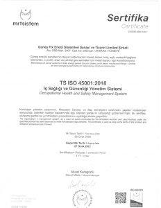 Güneşfix - TS ISO 45001 2018